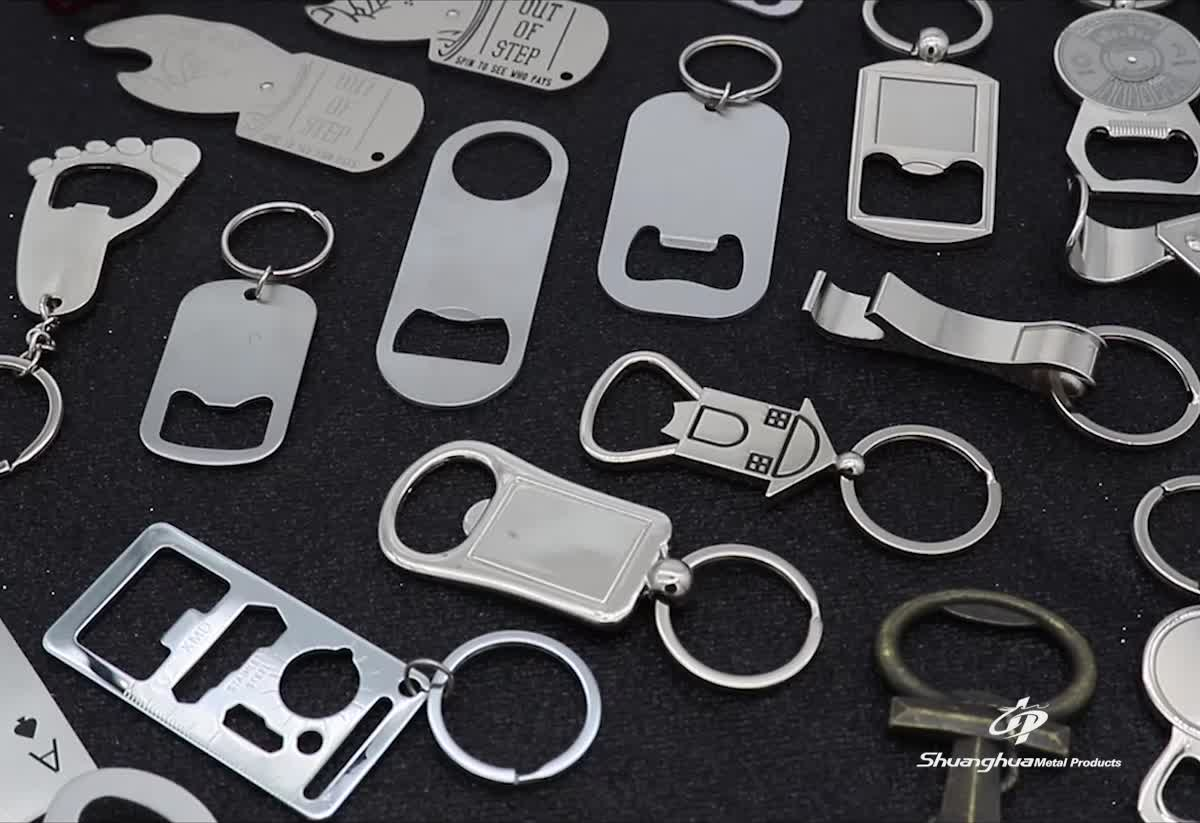 2019 Wholesale antique silver custom casting Printing sun and moon bottle opener key chain