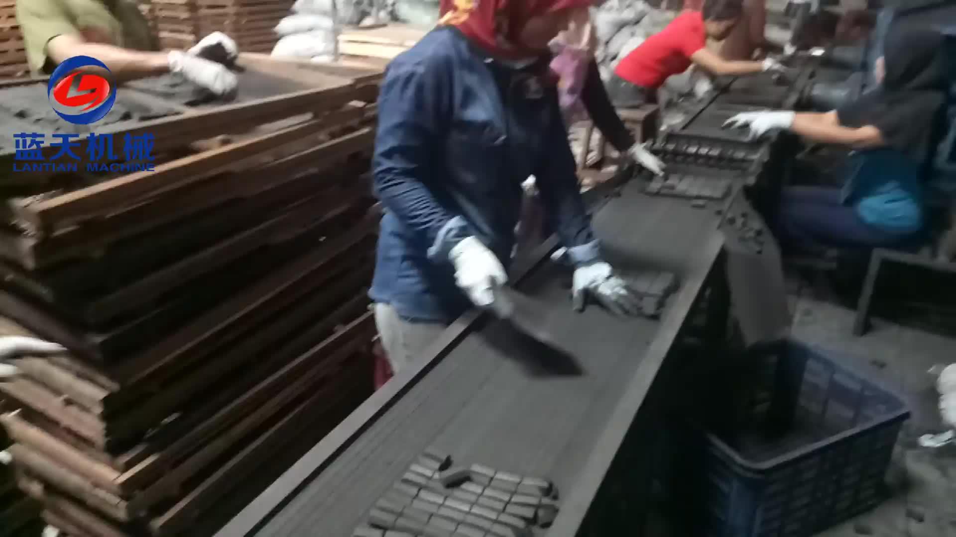 Vite di polvere di carbone shisha estrusore mattonella prezzo della macchina