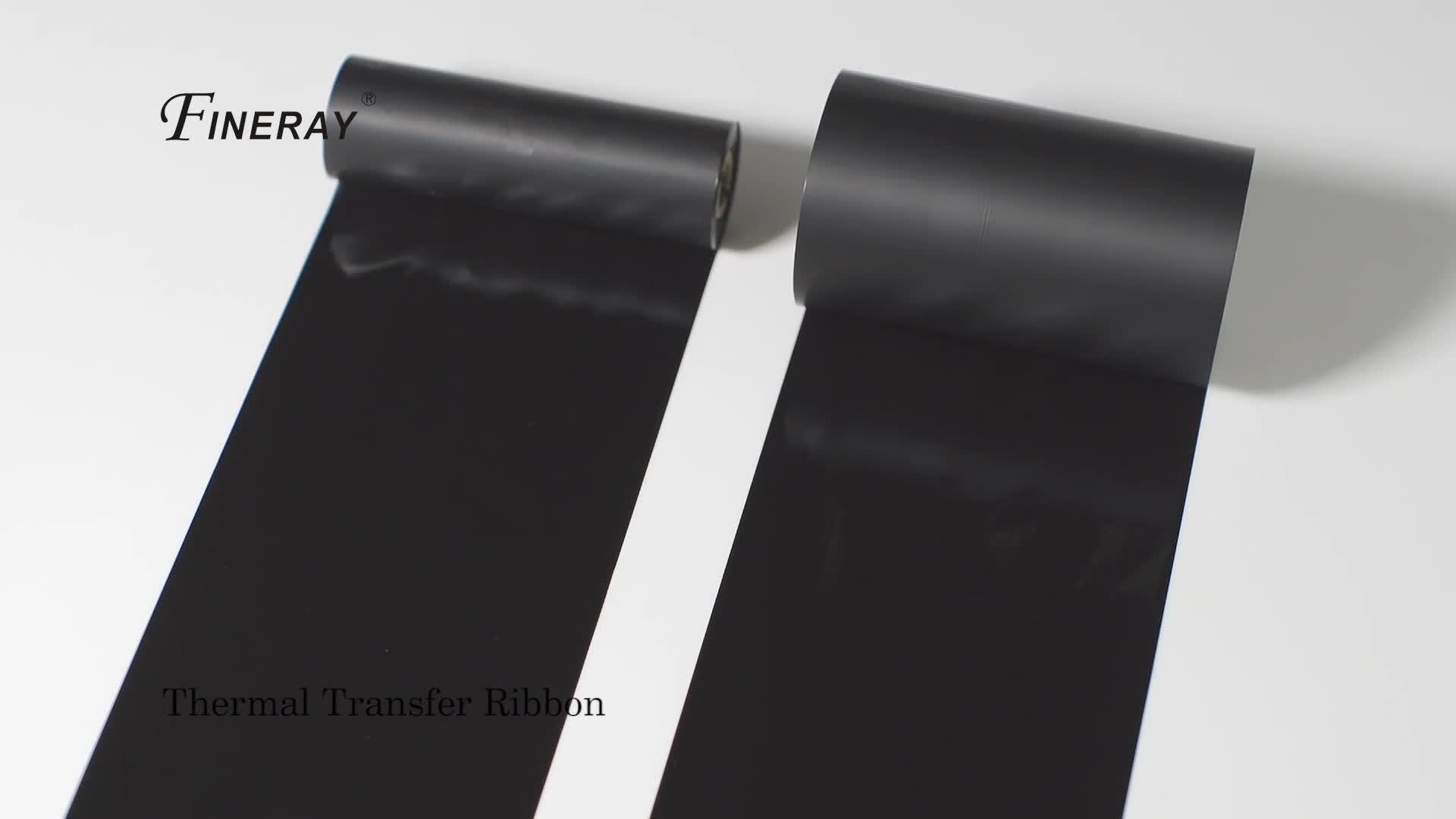 nero ttr rullo jumbo per fessure del codice a barre del nastro