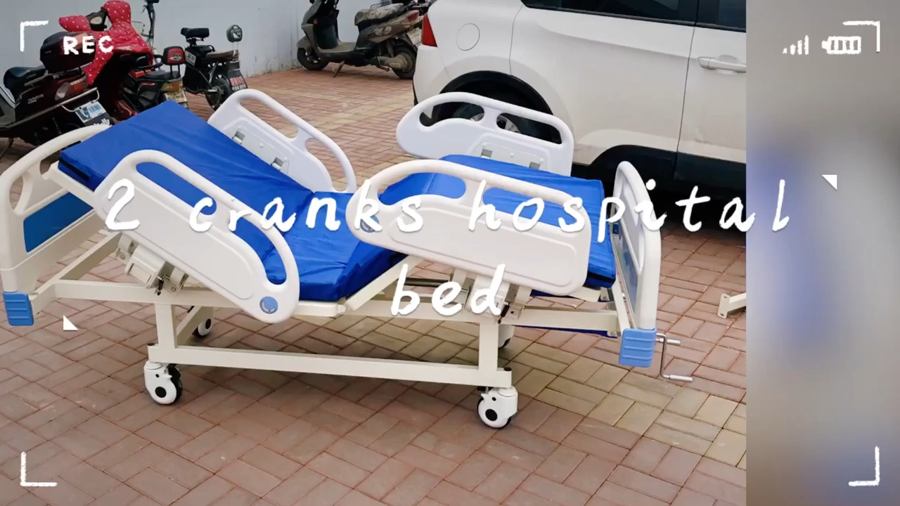 Abs Bed Head Hospital Equipment Disable Manual Used 1 Crank Hospital Bed