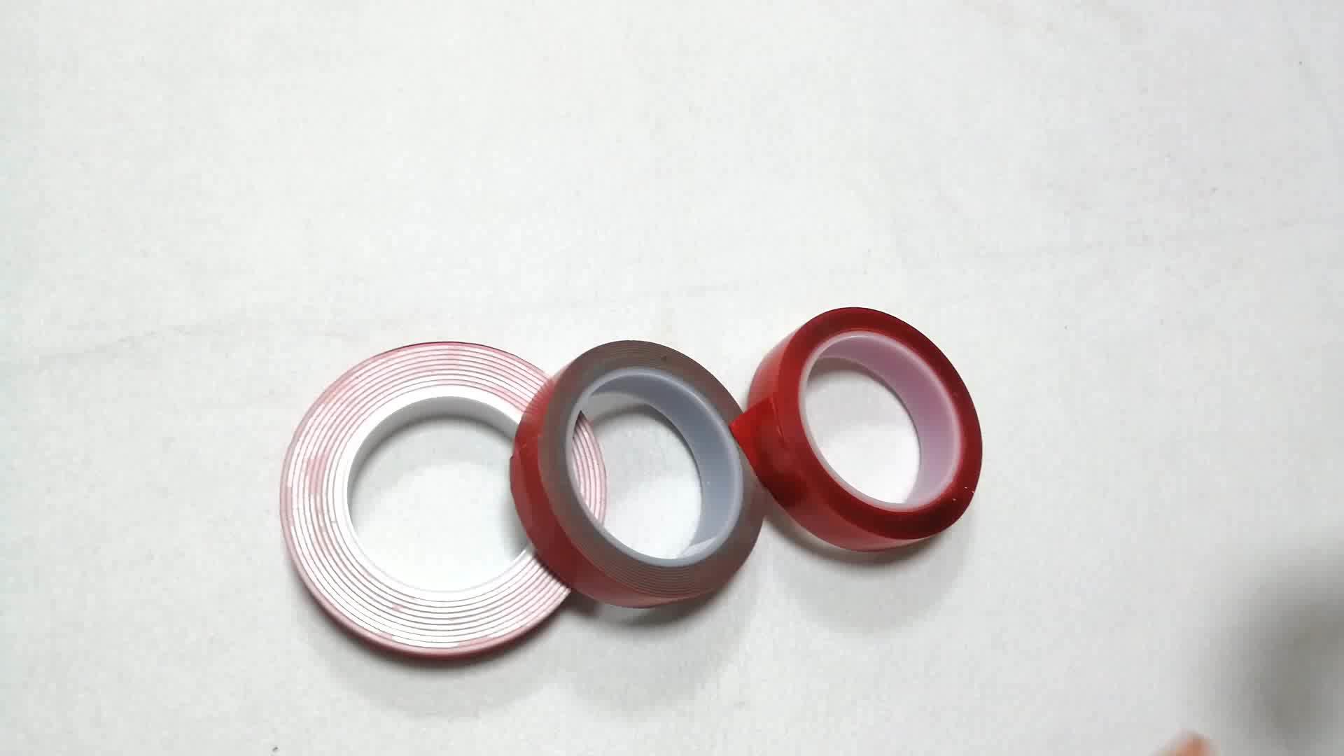 Groothandel hoge viscositeit hittebestendige geen residu sterke automotive clear zelfklevende dubbelzijdige VHB foam acryl tape