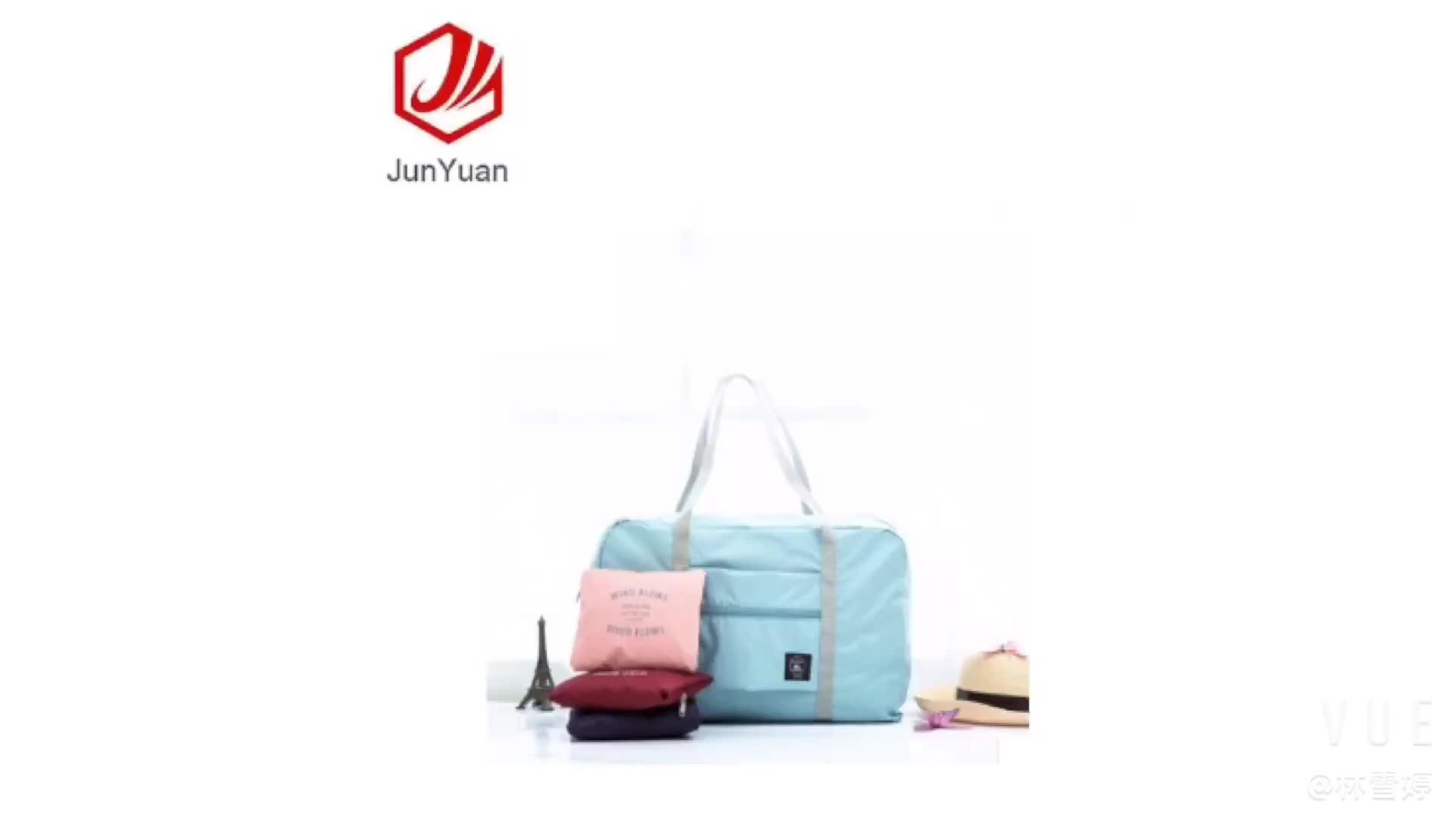 JUNYUAN Waterproof Big Capacity Foldable  Luggage  Bag  Travel  Luggage Storage Bag