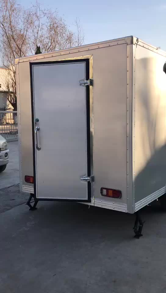 Mobile Used Food catering trailers Fast Food cart for sale