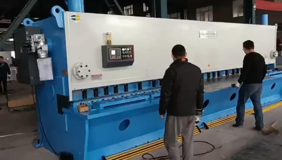QC11K-8 * 6000 الثقيلة التلقائي ماكينة تقطيع الورق الهيدروليكية التي تعمل بالحاسوب آلة القص