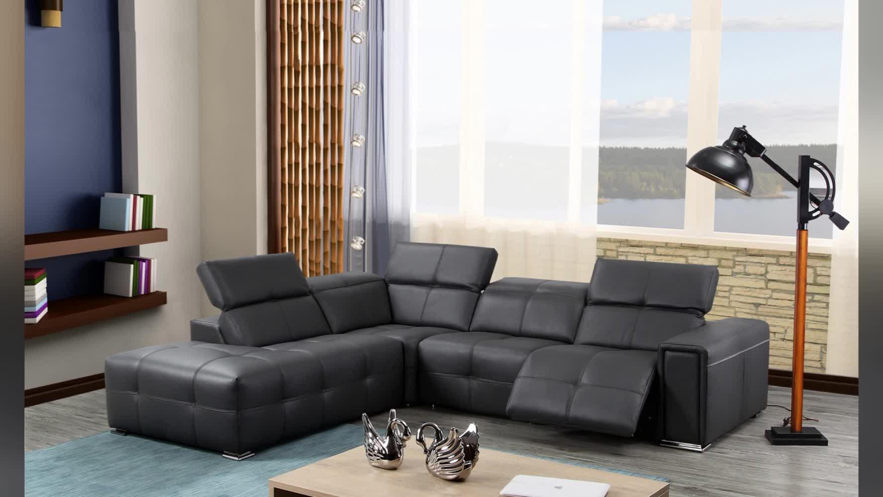 Mebel Italia Grosir Sofa Berbaring Sudut Bentuk L Bagian Modern
