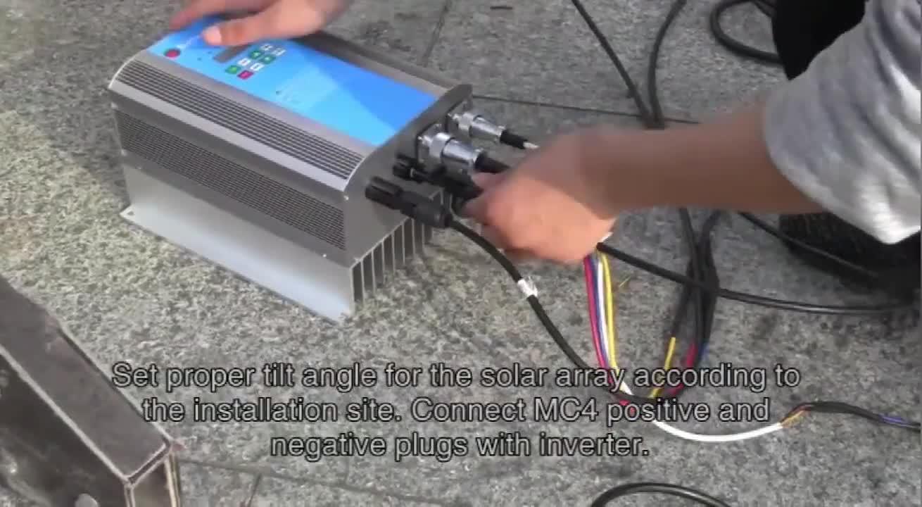 Fabrik bewässerung solar wasserpumpe controller inverter für landwirtschaft system