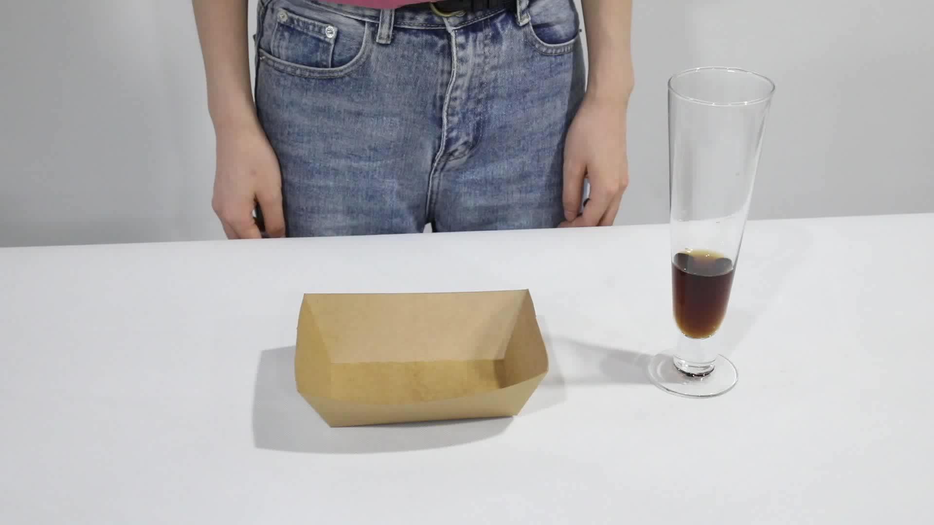Logotipo personalizado Impressão de Papel À Prova de Graxa Bandeja do Alimento