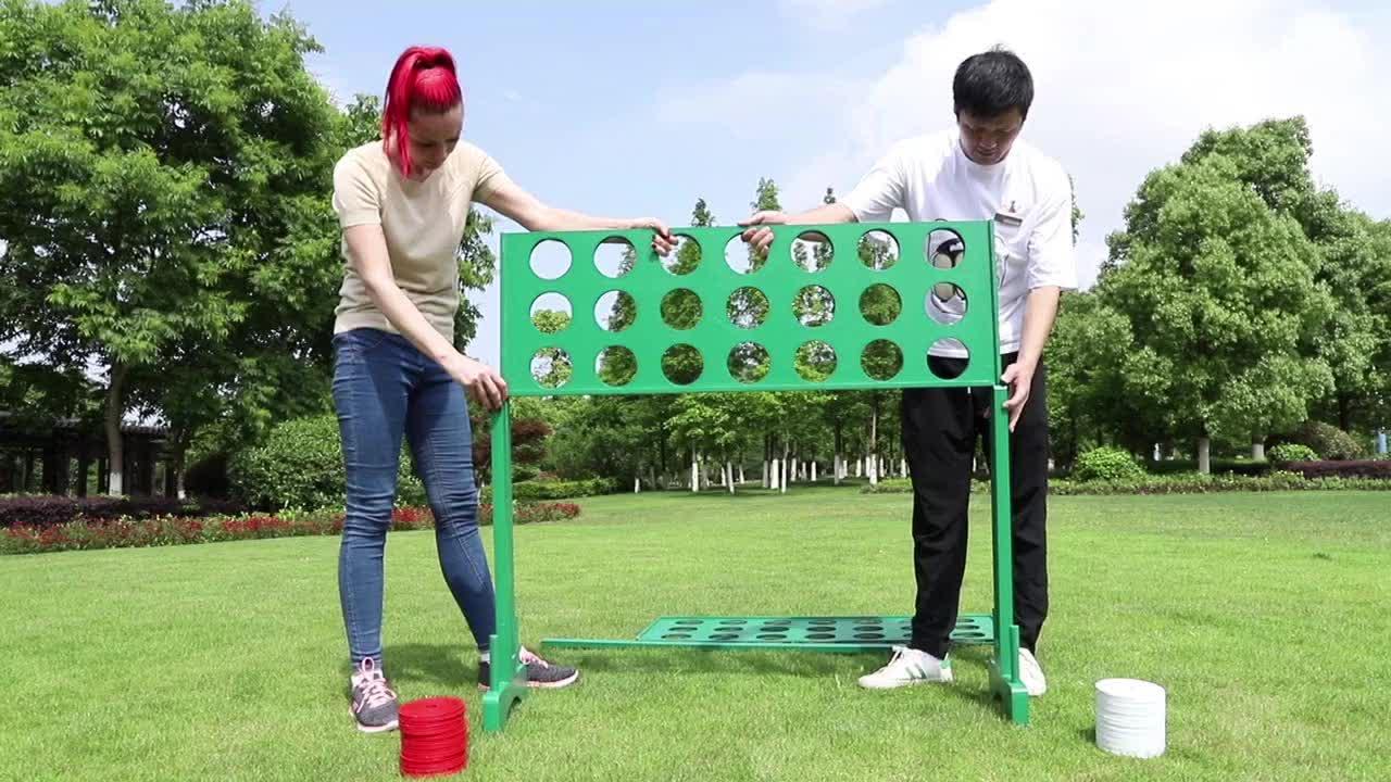 4 Oyunu ahşap dört bağlamak için bir satır oyun Çocuklar ve Yetişkinler açık bahçe oyun