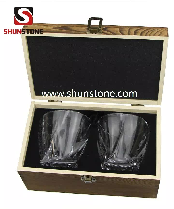 High Quality Twist Scotch Whiskey Glass Liquid Crystal Glasses Decanter Wine Tumbler Clear Whiskey Glass Bottle