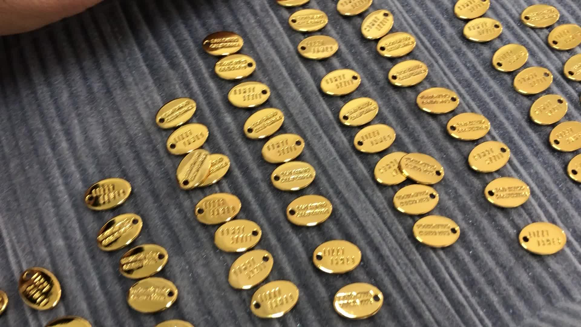 Wholesale Small Clothing Accessories Metal Logo Labels Custom Sewing Garment Metal Label