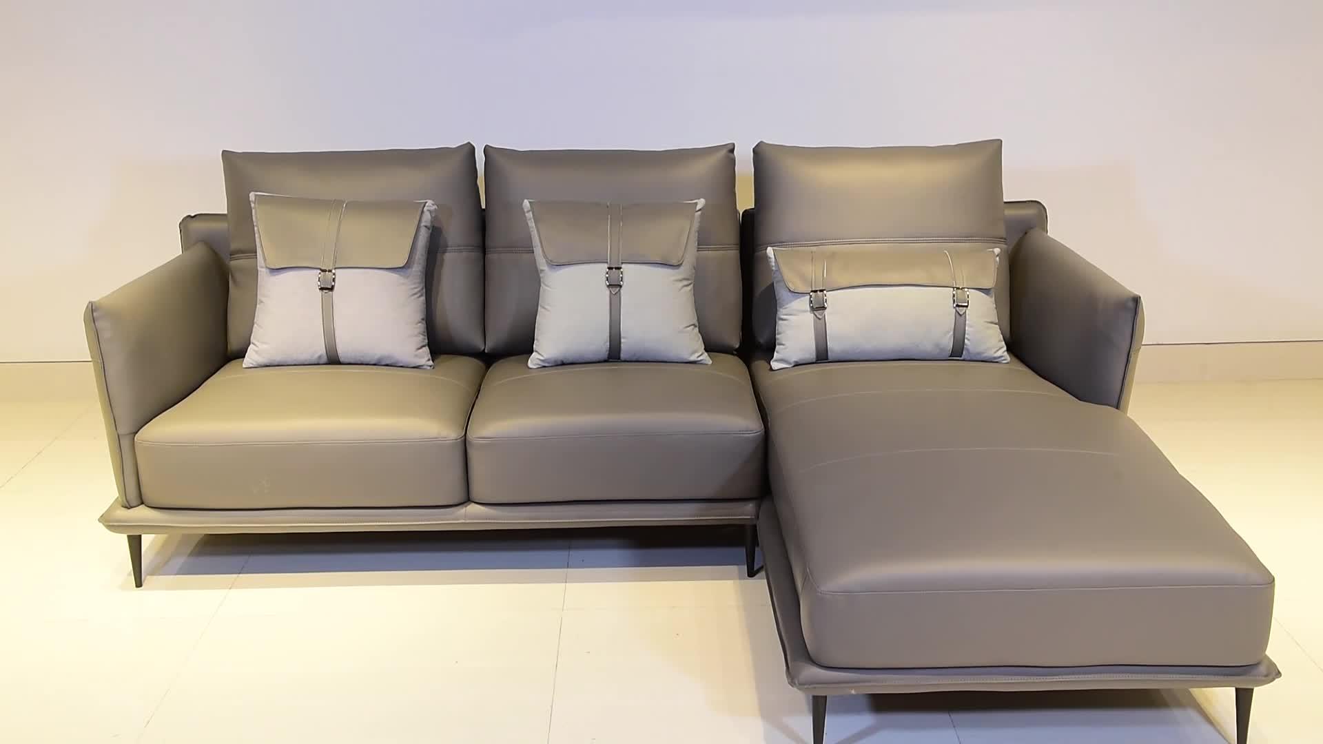 Casa de lujo sofá de la sala de sofá salón moderno sofá de cuero sofá de la Sala