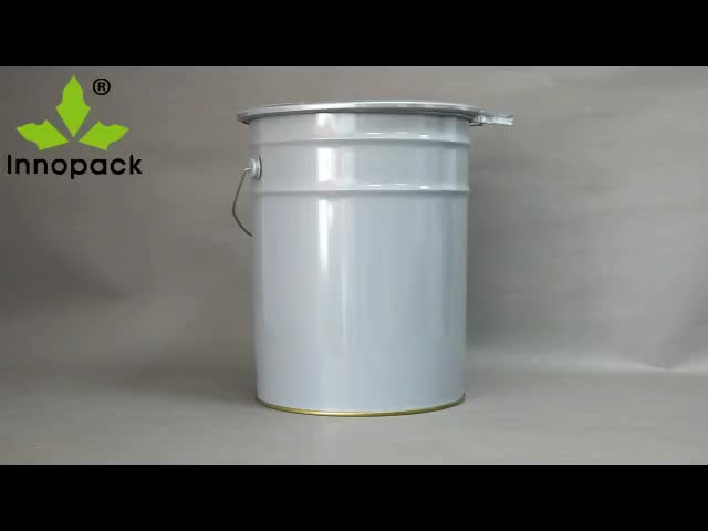 20L UN paint bucket with lid and handle, 5 gallon metal packaging pail, 20 liters steel drums manufacturers