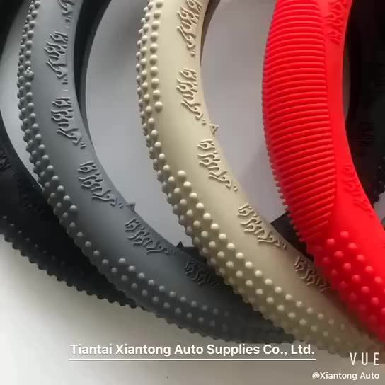 Silicon Non smell Anit-slippery Type Shrink Universal Steering Wheel Cover for Car