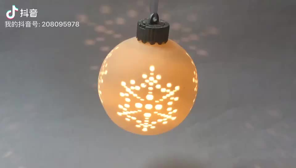 Ceramic Christmas Decoration LED Hanging Ball Ornament Xmas Decoration