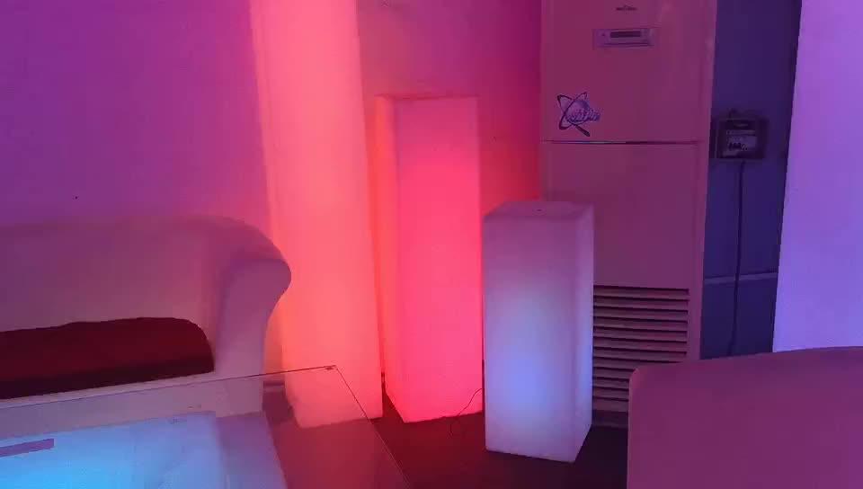 Led Hình Chữ Nhật Trụ Cột Ánh Sáng Trang Trí Cột Nhựa Cảnh Quan Đèn LED Phát Sáng Đèn Sàn Cho Phòng Khách