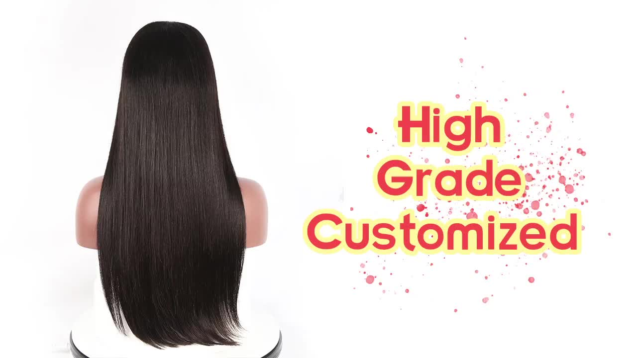 JP Top Quality virgin brazilian human hair lace front wig,hd transparent front lace wigs,150% 180% Density human hair wigs
