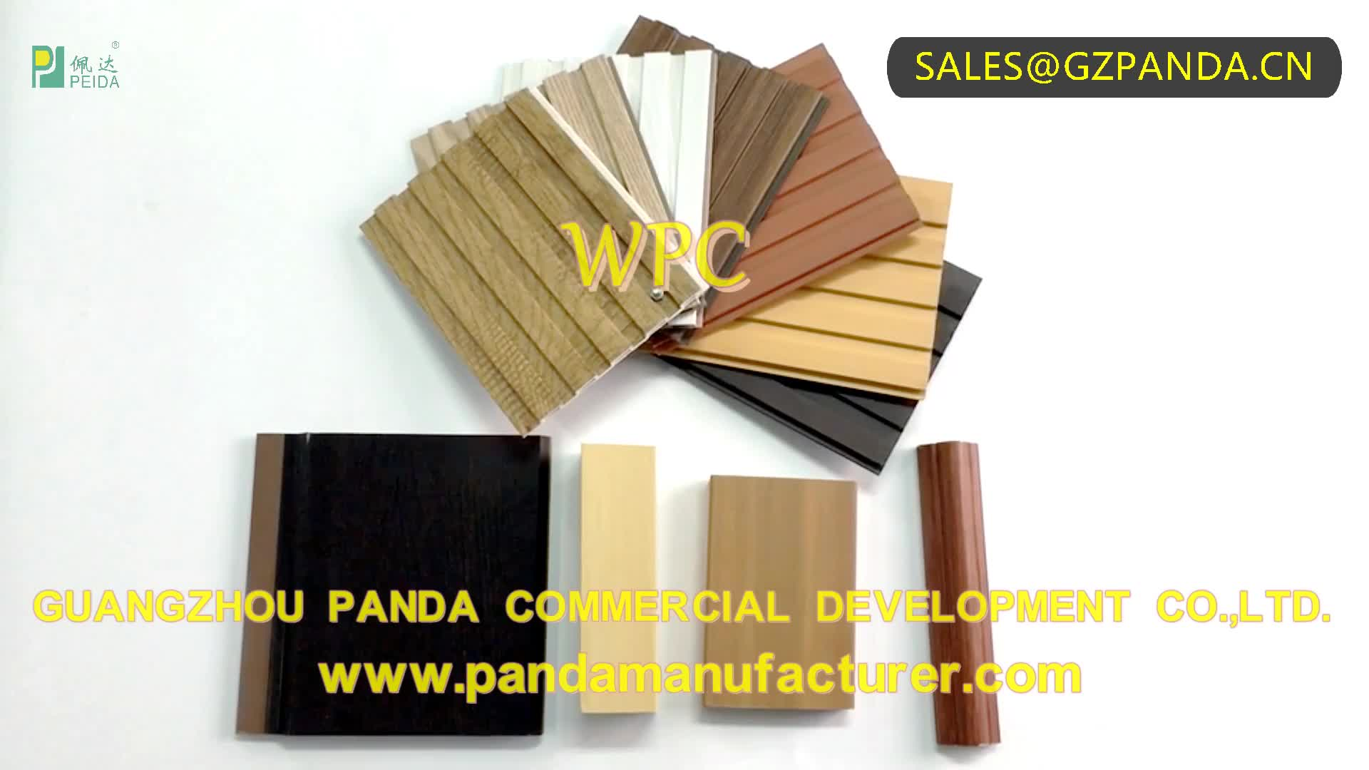 China Factory High Quality WPC Wood Composite Ceiling Panel