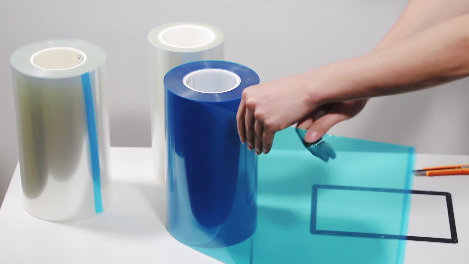 Anti-Static blue adhesive pet protective film