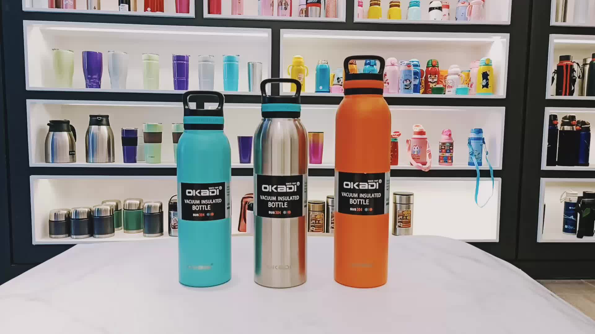 SS double wall copper vacuum insulated stainless steel beer water bottle