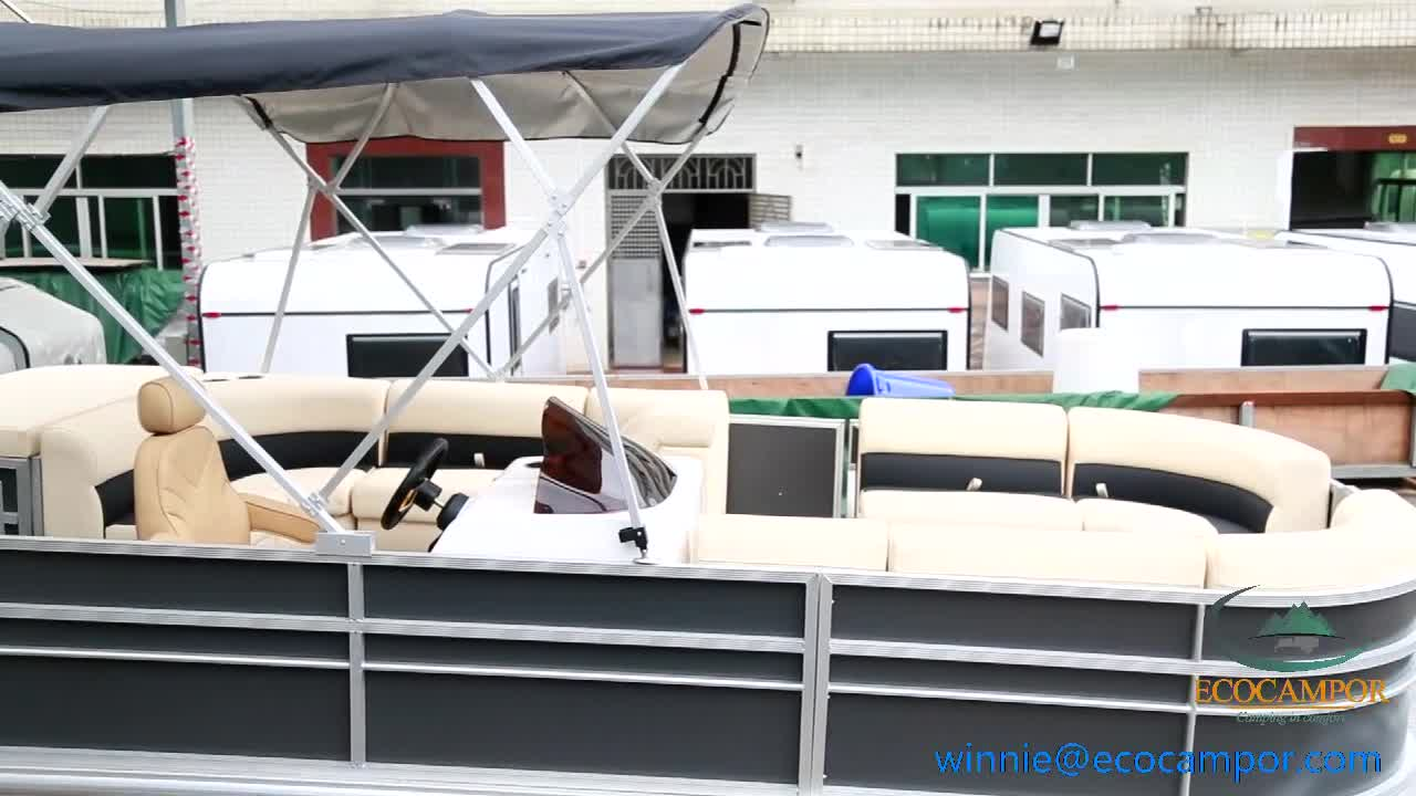 16ft-28ft Luxury Aluminium Pontoon Boat for Fishing and Party