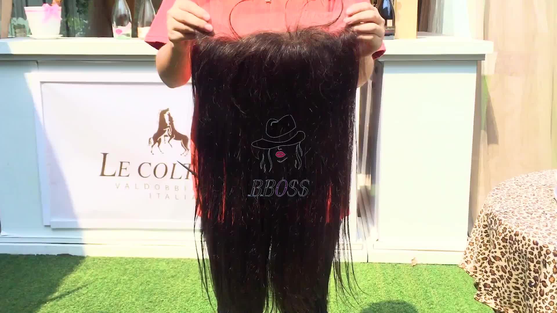 Cuticola allineati diritta dei capelli umani di 360 parrucca del merletto frontale con i capelli del bambino, 360 parrucca del merletto, prime vergini svizzero dei capelli umani parrucca anteriore del merletto