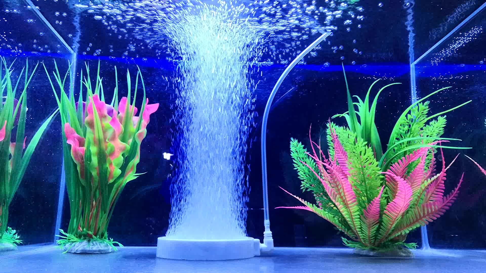 HiSin/HaiXin H107 107mm Wholesale Ozone Diffuser White Color Aquaculture Aquarium Air Stone with super mirco bubbles