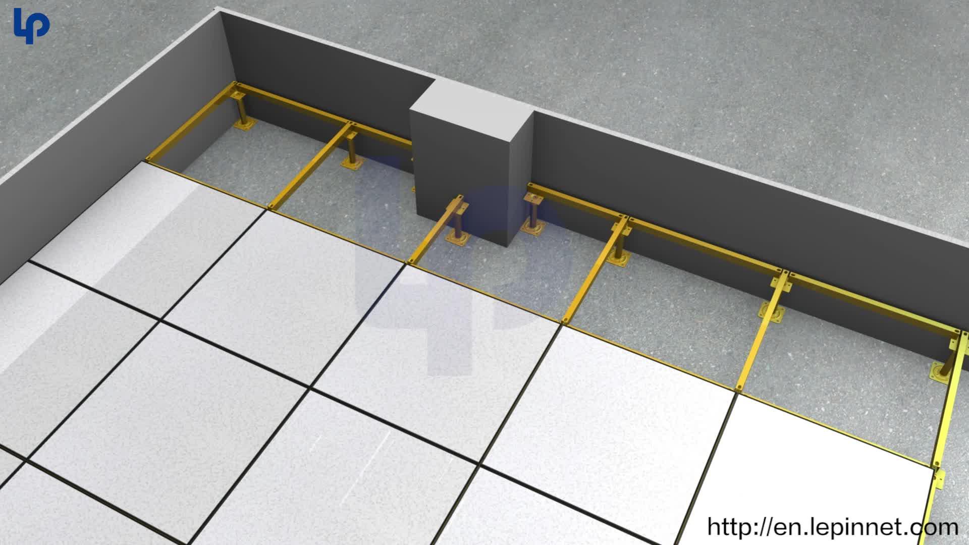 anstitatic raised floor fs1000 / raised floor system for data center or office