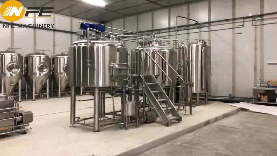 5000L  beer making machinery   Large beer brewery brewing system   Beer manufacturing system with cooling jacket