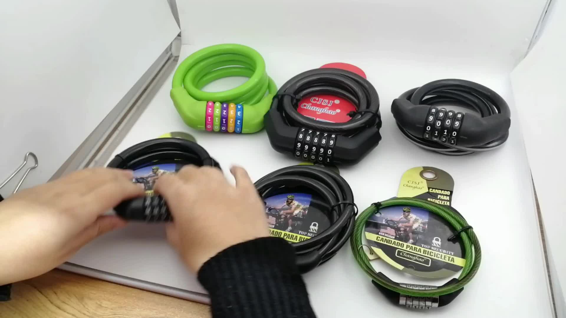 CH-203 new design digital password combination cable bike lock