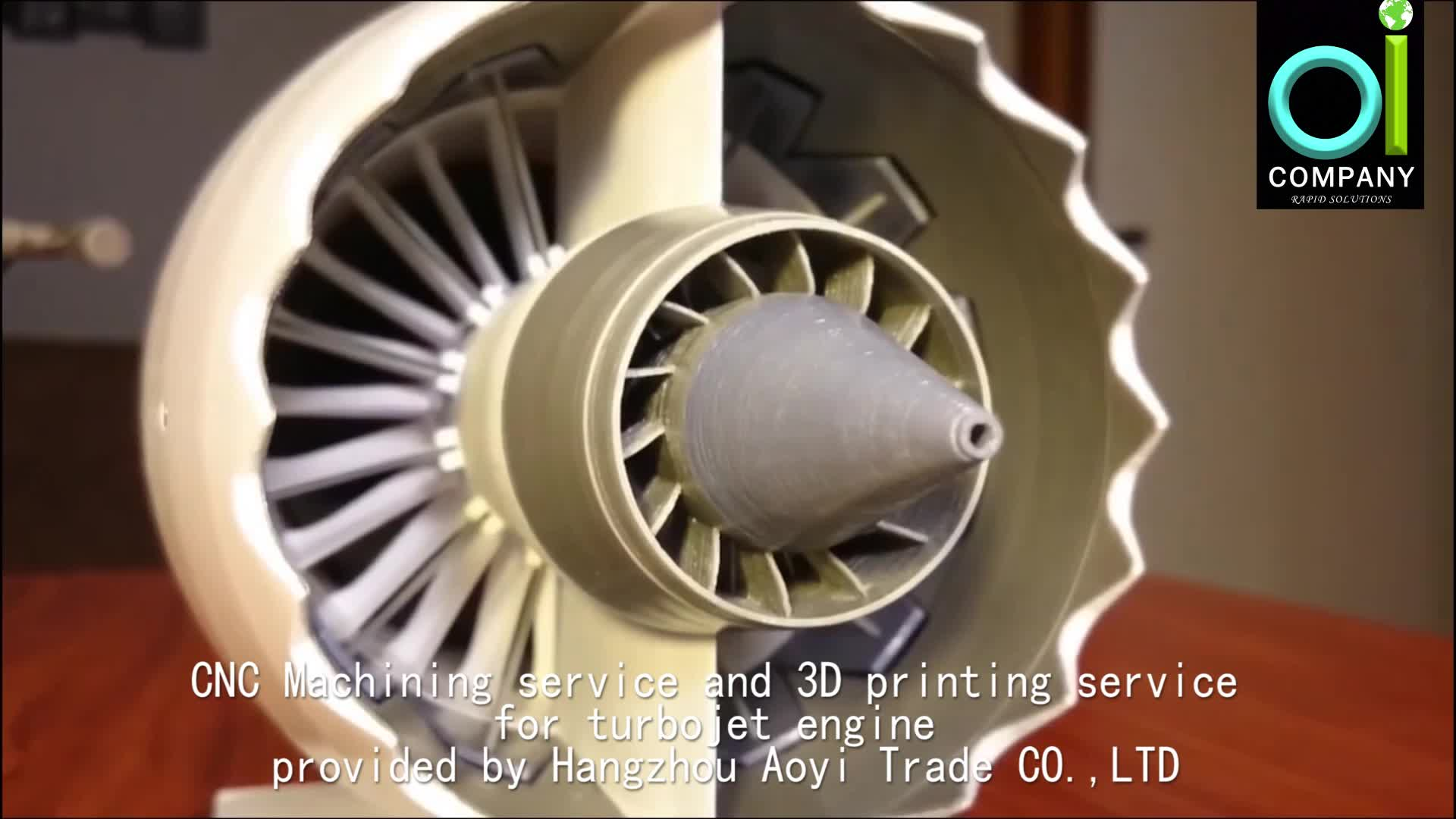 CNC Machining service and 3d printing service Custom Made OEM High Precision Aircraft Engine Turbojet part