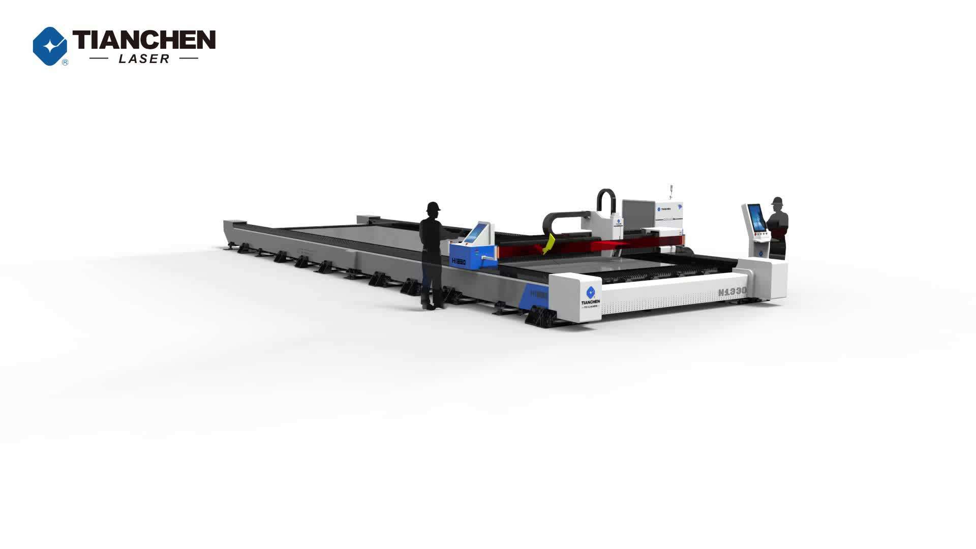 Jinan Tianchen 8000w single table cnc steel sheet fiber laser cutting machine price