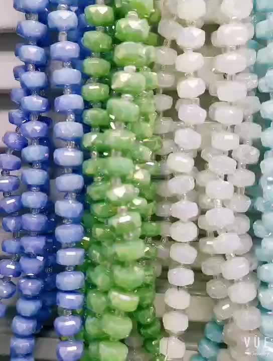 2019 New Shape Crystal Glass Loose Beads Tyre Beads
