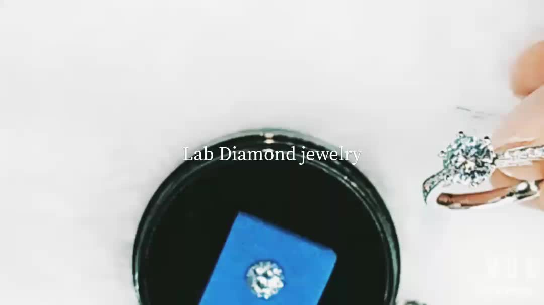 Excellent cut White polished Lab created diamonds for jewelry