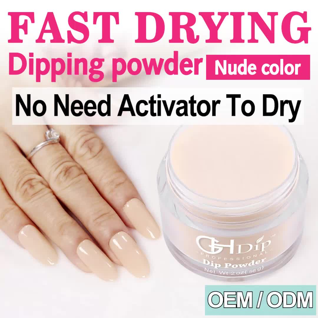 Hot Sale Dip Fingernail Polish Nude Color Dipping Acrylic Powder For Ombre Nails