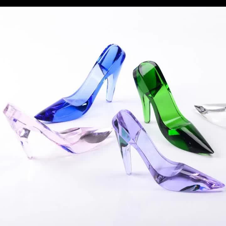 Nova CHEGADA cor de vidro de cristal de alta sapatos de salto alto para belo presente (R-1439)