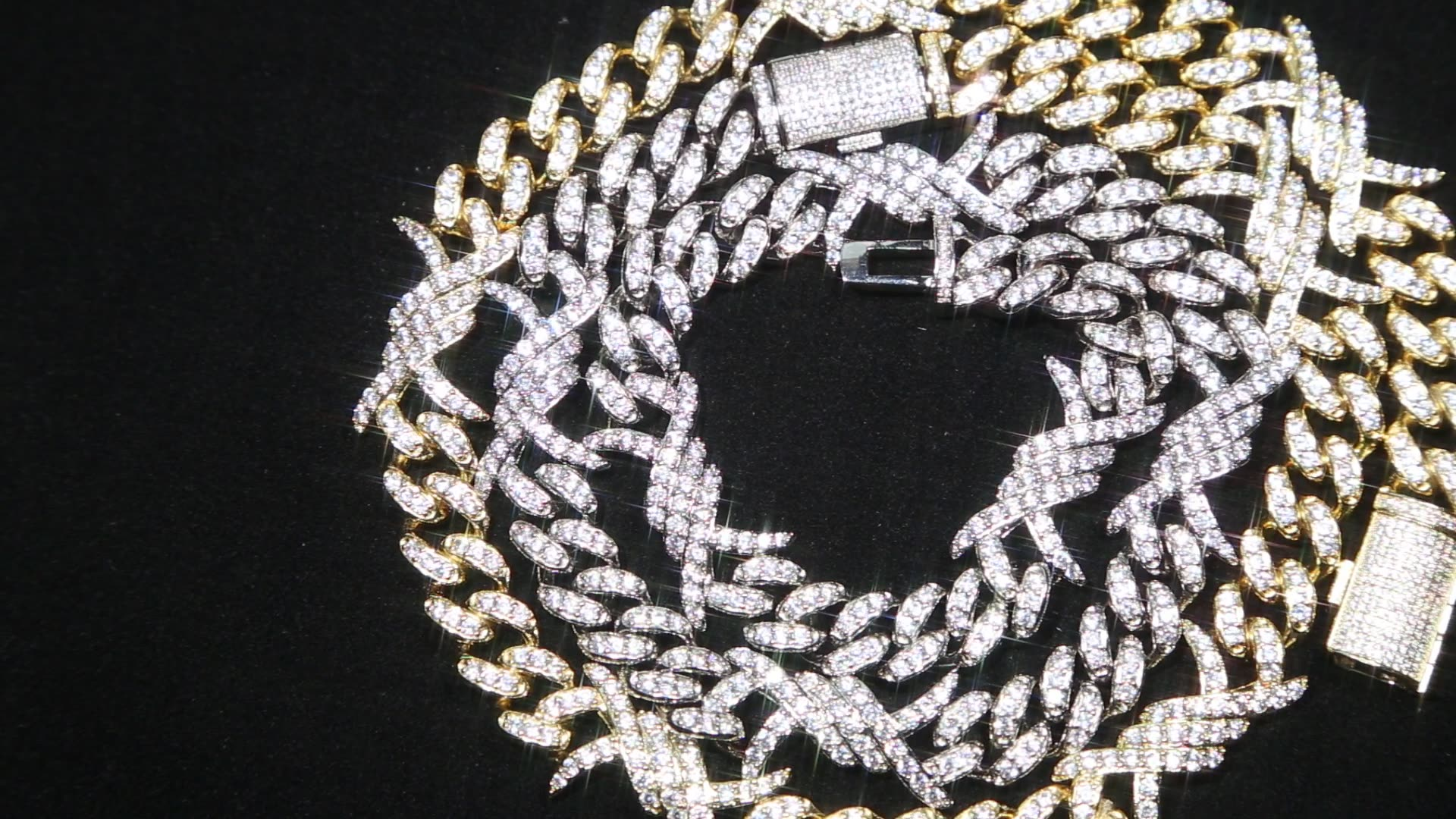 hip hop bling jewelry silver plated iced out bling cuban chain choker necklace for men