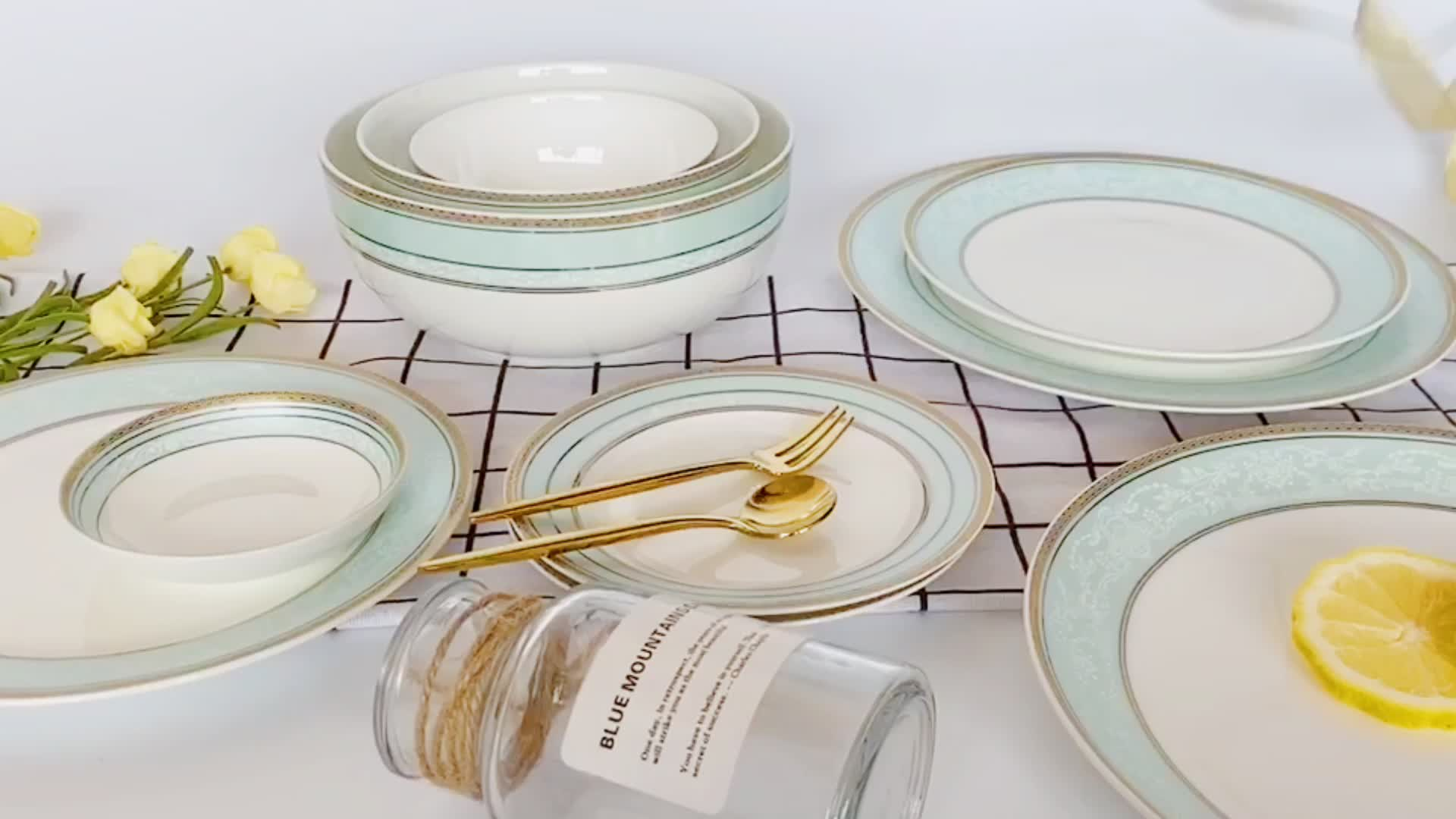 """2020 hot selling bone china plate 8"""" 10"""" 12 inch dinner plates ceramic charger plate buy one get one free"""
