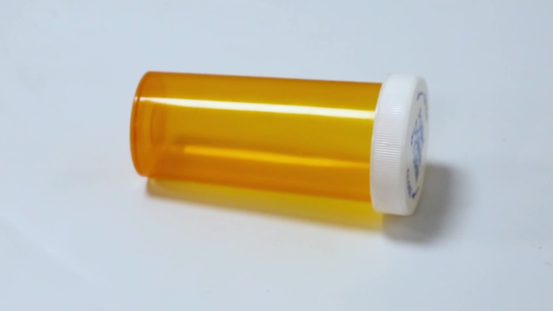 Garrafas plásticas de pílula laranja