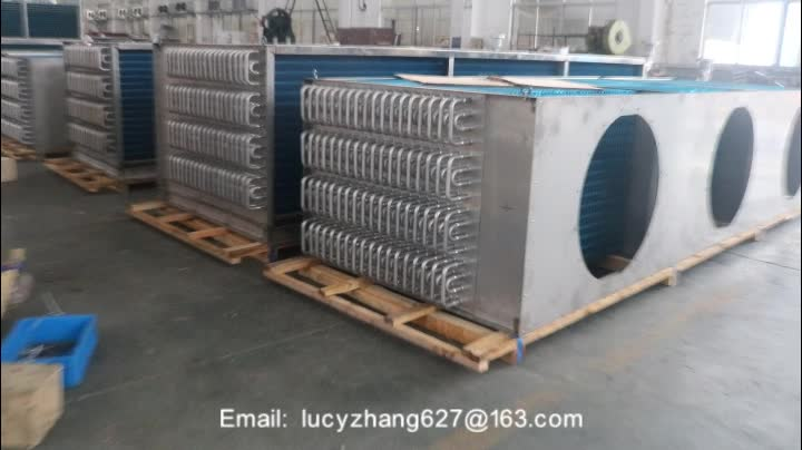 good price aluminum tube finned type evaporator for iqf freezing machine