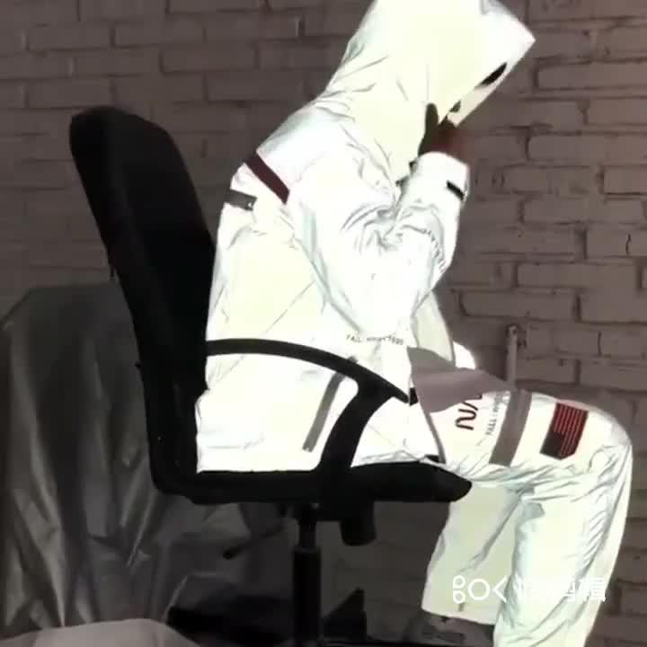 Jaqueta de bombardeiro reflexivo para blusão espacial da nasa hip hop