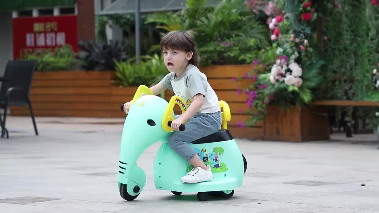 Lovely Elephant Design Baby Electric Ride on Car Outdoor Four Wheel Kids Swing Car