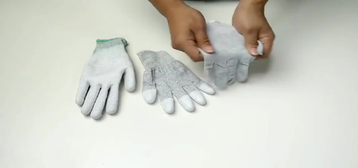Palm PU Coated Factory Wholesale ESD Safety Nylon Gloves For Worker