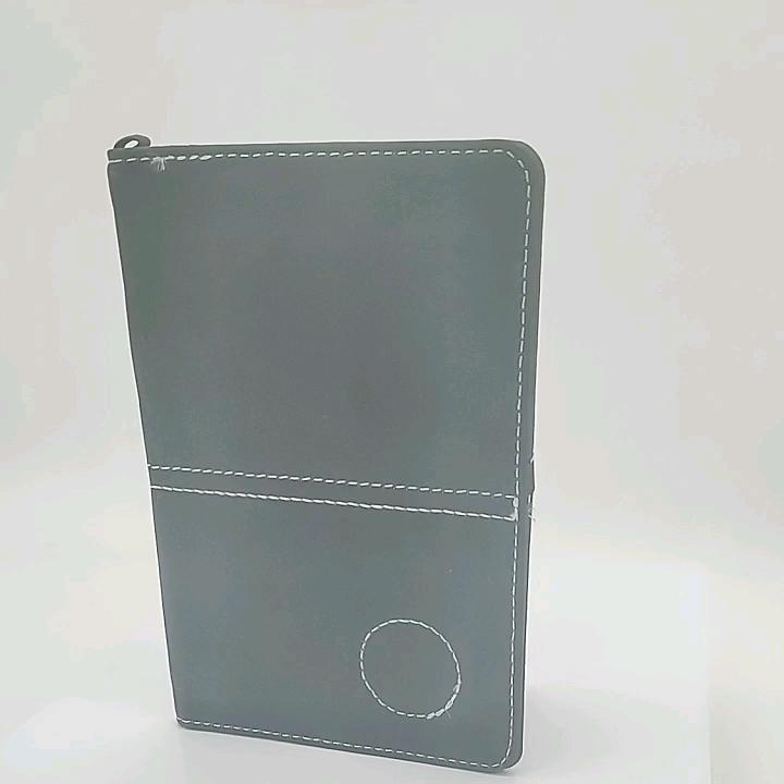 custom embossed logo PU leather golf scorecard book cover with custom ball marker for men gift