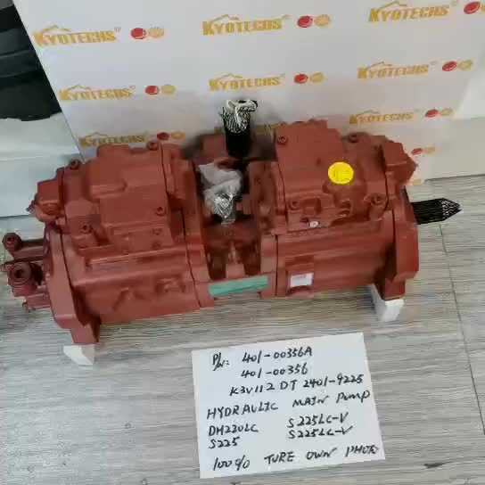 401-00356A 401-00356 K3V112DT 2401-9225 HYDRAULIC MAIN PUMP FOR DH220LC S225LC-V S225