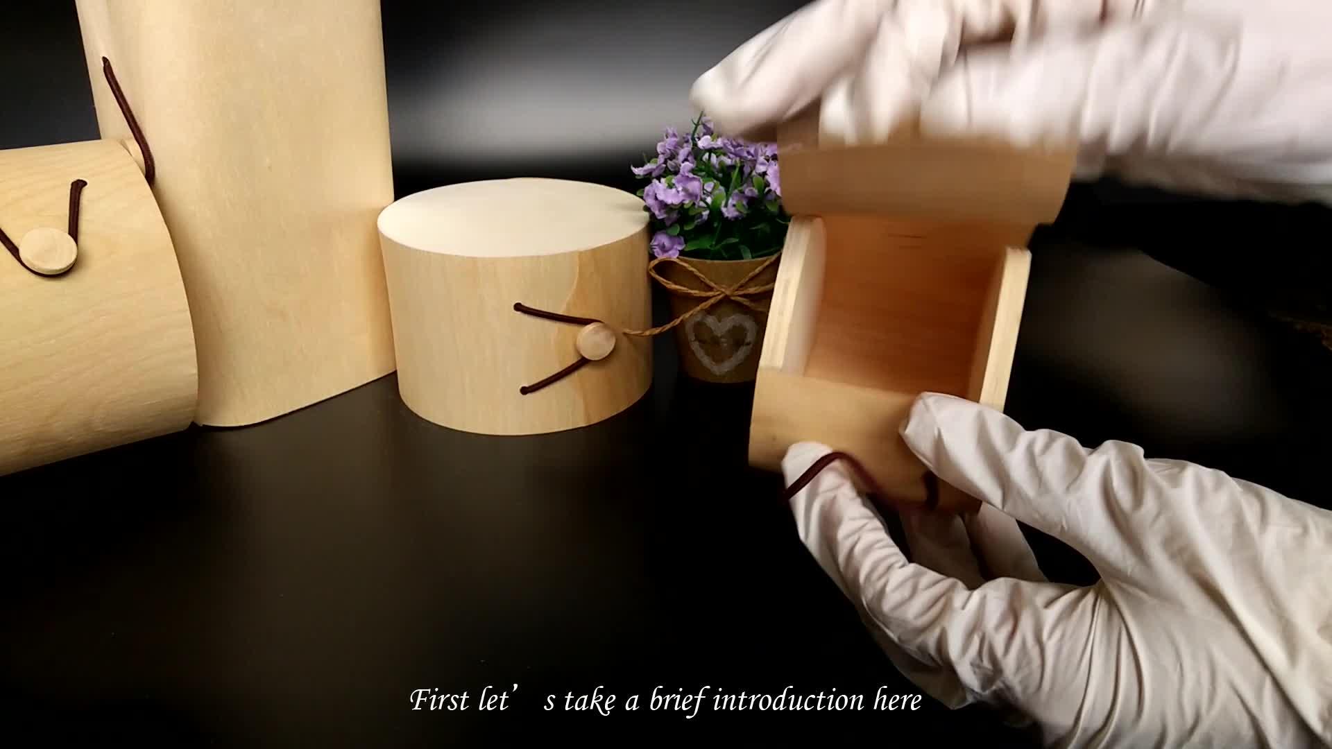 Weihnachten verpackung billiger kleine runde holz boxen unfinished holz box käse lagerung rustikalen birke weiche furnier geschenk box
