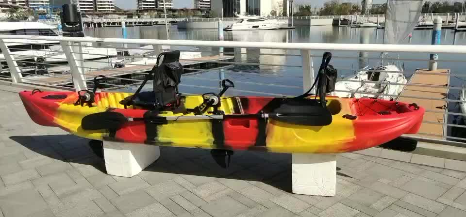 two person fisher kayak with  pedal drive system or 34T electric motor