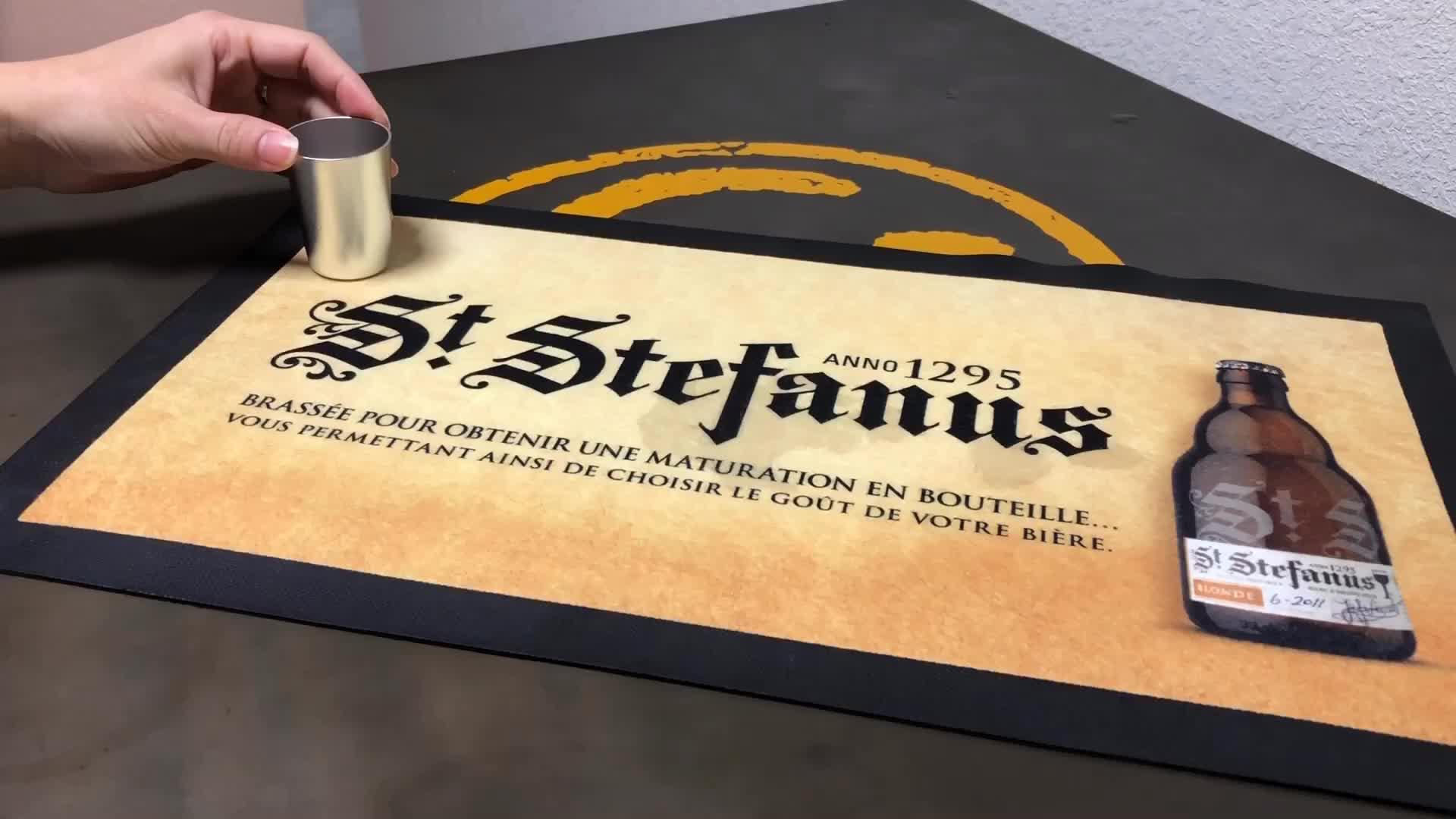 Nitrile rubber bar mat custom cheaper rubber anti slip rubber beer mat