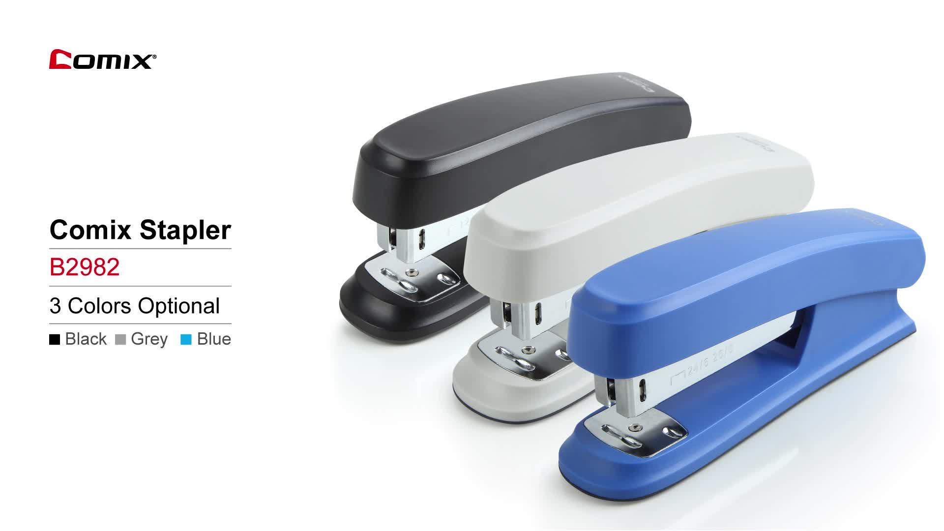 Comix Slippy Plastic New Style 24/6 , 26/6 ,20 Blatt, leichter und handlicher Hefter