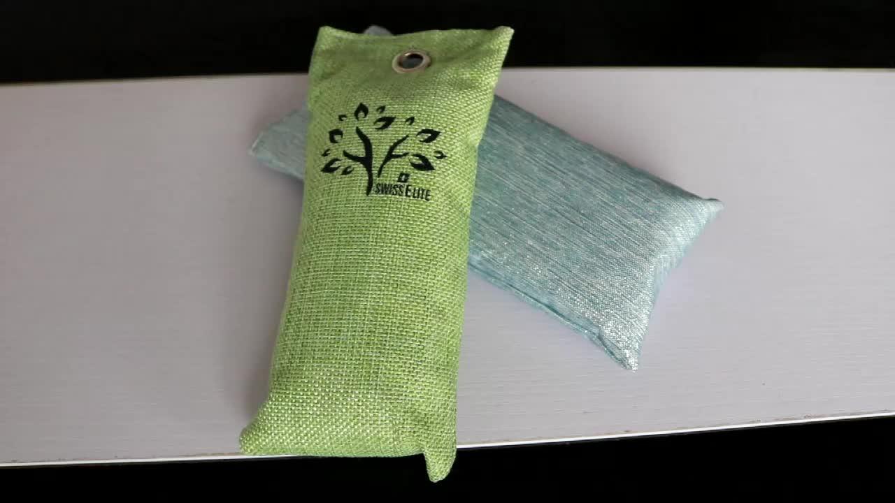 Bamboo Charcoal Air Purifying Bag (2 Pack), 50g Natural Air Freshener Bags