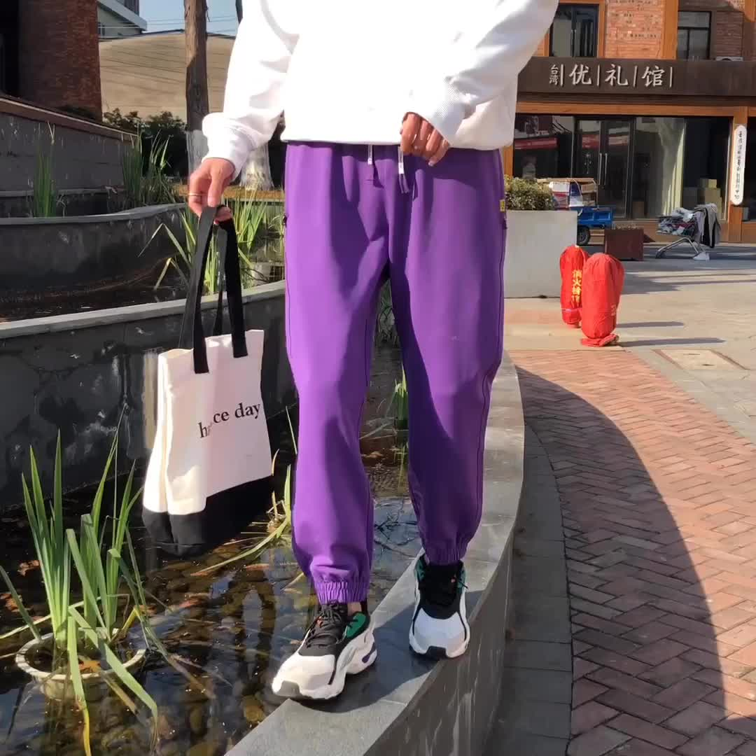 2019 Pria Latihan Gym Celana Jogging Keren Mengikuti Jogger Baggy Keringat Pria Ketat Cotton OEM Kasual Pria Grosir Chino Celana